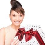 žena s darčekom - ako schudnúť