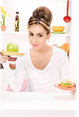 chudnutie - žena, zdravá strava