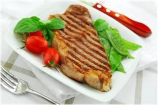 delená strava - mäso, zelenina,...