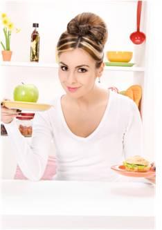 chudnutie - žena, delená strava