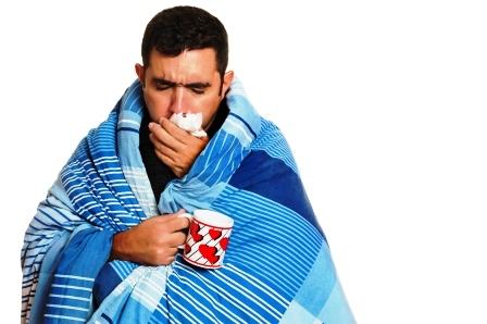chory muz s chripkou