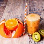 citrusové smoothie - grapefruit a iné ovocie