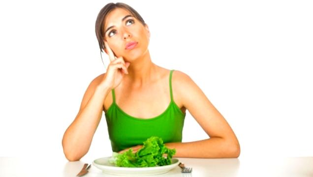 chudnutie - zena so zeleninou