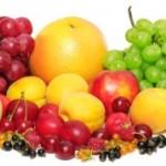 ovocie - jablko, hrozno, pomaranč, broskyňa...