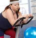 tučna žena na bicykli