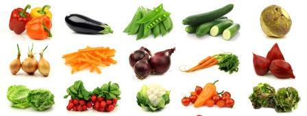 zelenina - paprika, cesnak, paradajka... kolaz